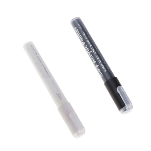 Holz Metall Stoff White /& Black Permanent Acrylfarbe Marker Pens f Glas
