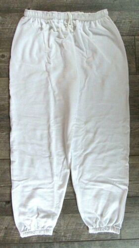NEW Men/'s Phoenix  50 Cot//50 Poly  Sweatpants  White  2XL