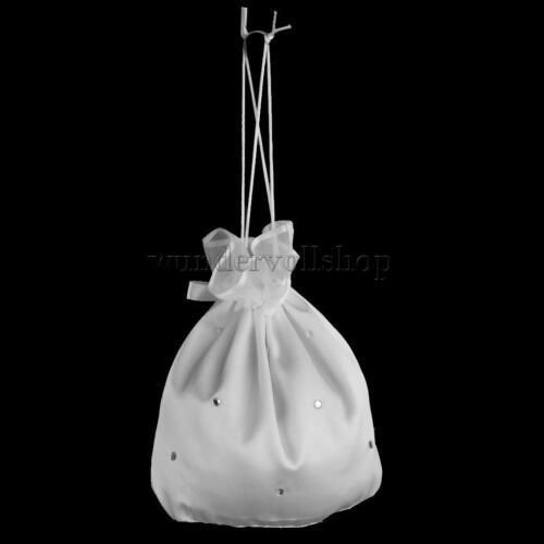 Weiß Brautbeutel Braut Täschchen Kommunionsbeutel Säckchen