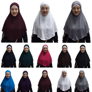 One-Piece-Amira-Women-Hijab-Girls-Scarf-Muslim-islamic-Headscarf-Khimar-Prayer