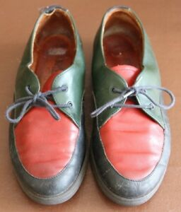 Rohde-Blue-Red-Green-leather-Lace-up-Flat-shoes-size-5-38