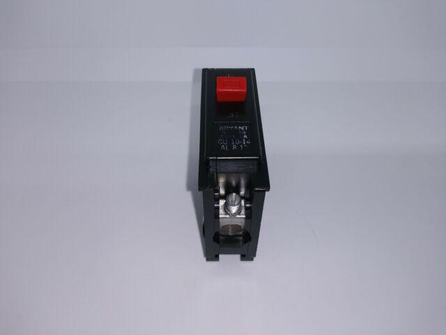 Bryant Westinghouse BR120 1 POLE 20 AMP 120//240 VOLT Circuit Breaker Red Handle
