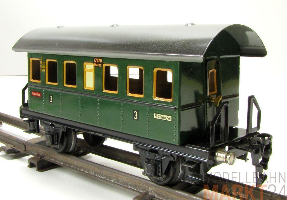 marklin 1727 1727 1727 3. classee vagoni due achsig in verde scuro per traccia 0-SCATOLA ORIGINALE 7e3d54