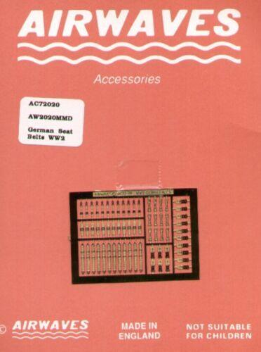 Airwaves 1//72 WWII German Ceintures # AEC72020