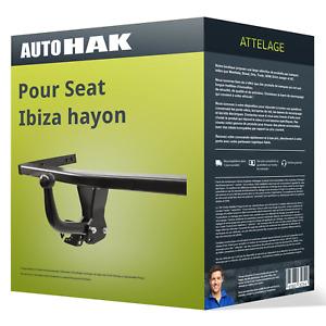 Auto-Hak - Jeu Complet Attelage pour Seat Ibiza Hayon (2002) - Col de Cygne faisceau - 7 broches