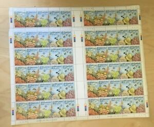 SPECIAL-LOT-Seychelles-1986-121-Coral-20-Strips-of-5-MNH-Sheets