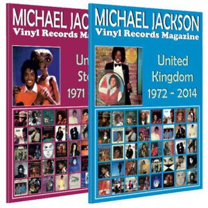 Lote-2-X-revista-de-Michael-Jackson-Discos-De-Vinilo-Reino-Unido-Estados-Unidos