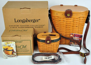 Longaberger-Saddlebrook-Basket-Combo-Collectors-Club-Purse-Country-Estates-Set