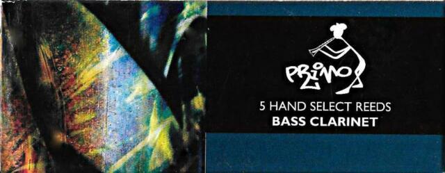 Primo #3 Bass Clarinet Reeds (Box of 5) BRAND NEW