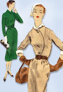 1950s Vintage Vogue Sewing Pattern 7736 Misses Slender Street Dress Size 12 30B