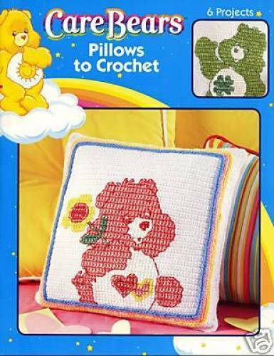 Leisure Arts Care Bears Pillows To Crochet 6 Projects 4185 Ebay