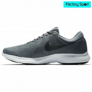 Detalles de Nike Revolution 4 Gris Negro Zapatillas Deportivas Running para  Hombre