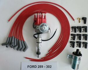 ford 289 302 red small cap hei distributor 45k coil. Black Bedroom Furniture Sets. Home Design Ideas