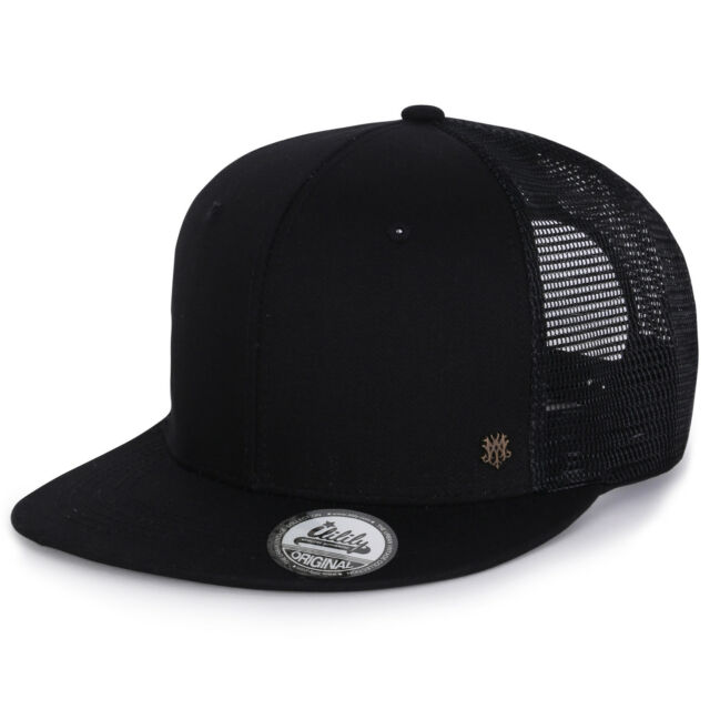 ililily Extra Large Size Solid Color Flat Bill Snapback Hat Blank Baseball  Cap  92879322ae86