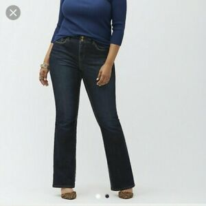3f9fe9d87b0 Lane Bryant Women's Distinctly Boot Denim Jeans Dark Wash 22 Average ...