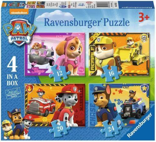 RAVENSBURGER  7033 PAW PATROL Puzzle Set 12+16+20+24 Teile NEU/&OVP