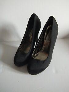 Ladies black Atmosphere shoes Size 4