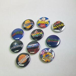 Lot-of-10-1-034-80s-toy-logo-buttons-pinback-punk-pins-NOS-motu-madballs-more