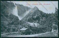 Terni Cascata Marmore Alterocca 5554 Treno cartolina QK4558