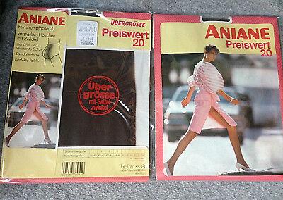 6x Aniane Strumpfhose Preiswert 20 Graphit 70er Übergröße Neu Ovp Vintage Nylons
