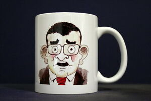 UNIQUE 350ml MUG WITH EMBEDDED IMAGE OF ORIGINAL PHOTO: Caricature + McCarthy