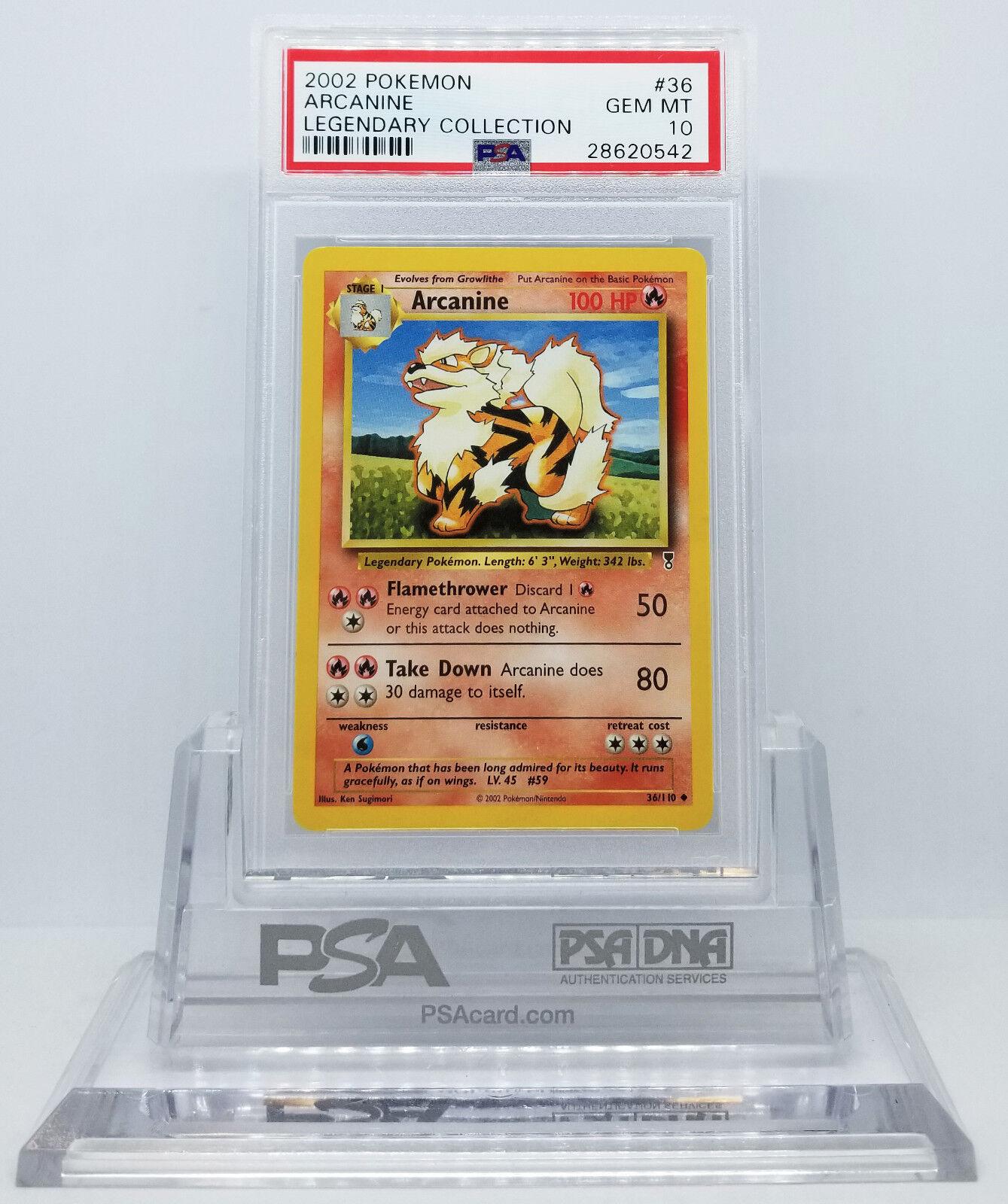 Pokemon LEGENDARY Collection Arcanine 36 PSA 10 Gema menta