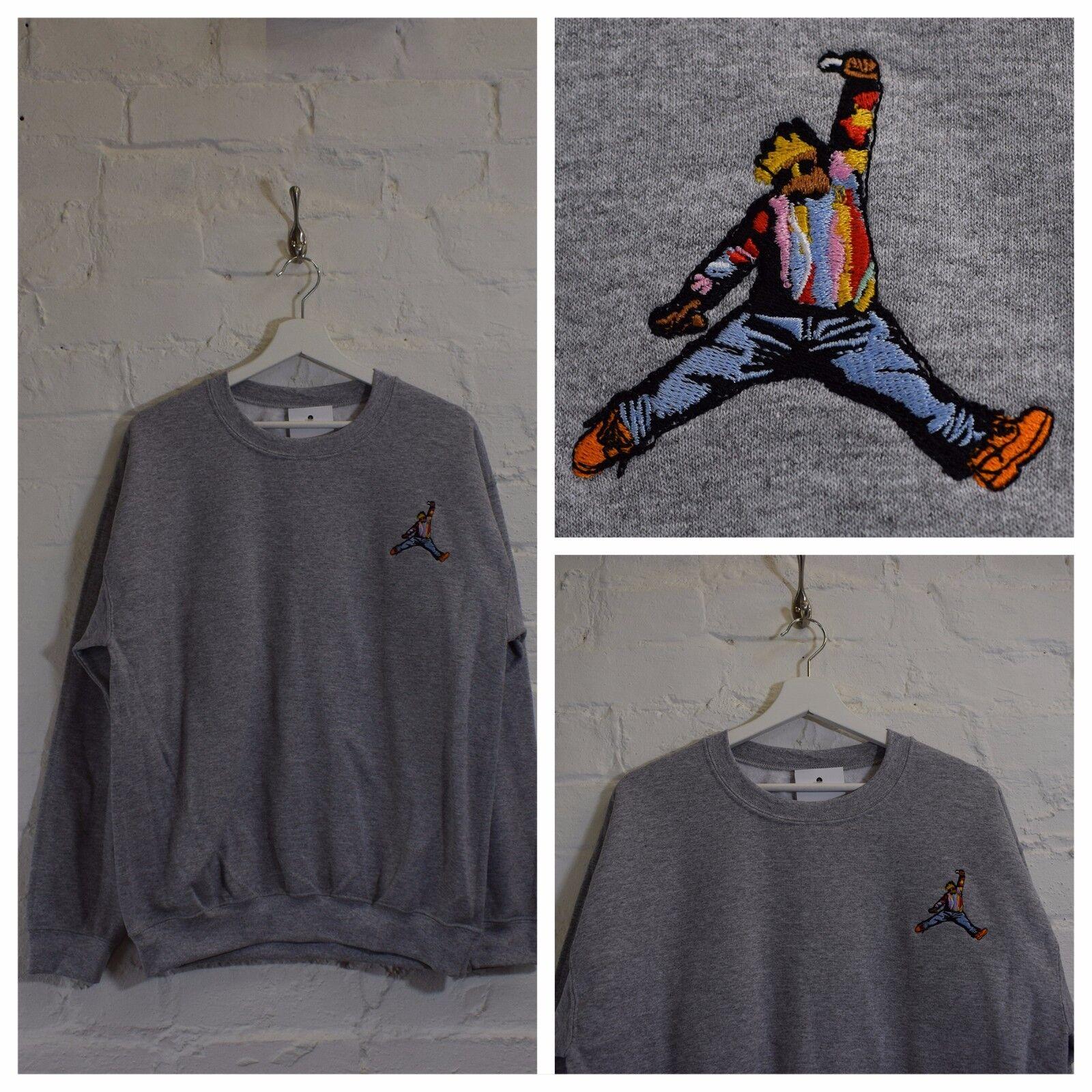 Actual FACT Biggie x Jordan Hip Hop heather grau Rundhals Sweatshirt TOP