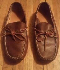 Ralph Lauren Polo Sport brown leather loafers slip on dock boat Shoes mens 9 D
