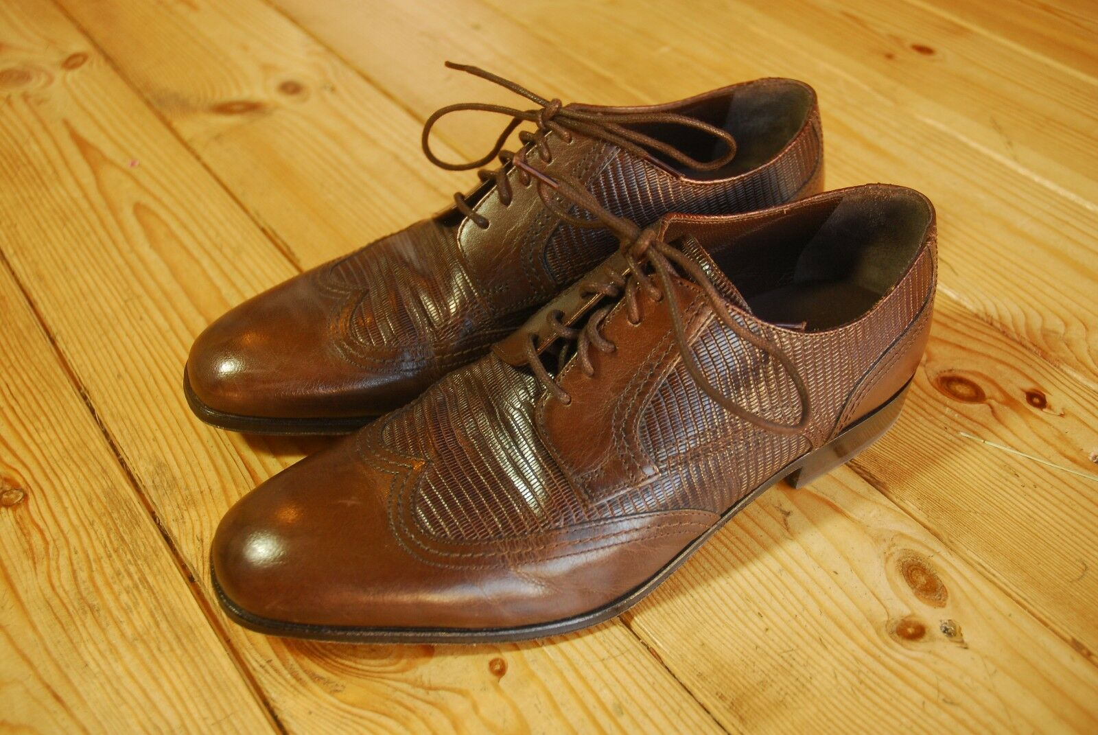 Men's M&S Collezione Brown Lace Up Formal Leather Sole Work shoes UK 6.5