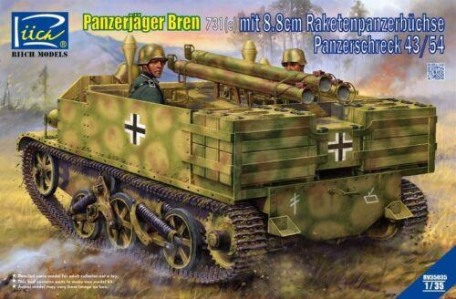 e mit 8.8cm Panzerschreck 43//54 Riich Models RV35035 1//35 Panzerjäger Bren 731