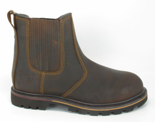 MENS POWERWEAR CHELSEA OILED LEATHER NON-SAFETY  DEALER BOOTS,V1261 RANCHER