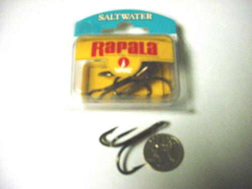 4 Rapala 4XSTG O/'Shaug Bronze Size 4//0 Treble Hooks