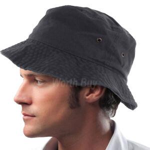 2d251b26db4 Mens Womens Bucket Hat Cap Fishing Boonie Brim visor Sun Summer ...