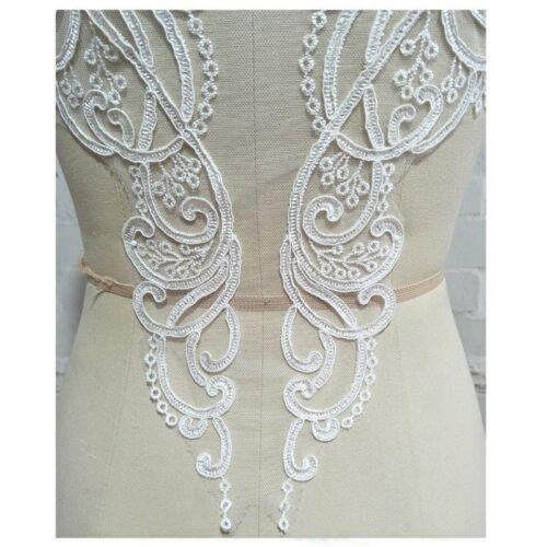 Blumen Spitze bestickt Rücken Applikation Patch Hochzeit Partykleid Kostüm nähen
