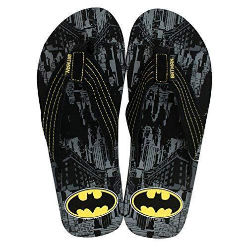 Batman Men/'s Flip Flops City View Size Small 7//8 New Black Yellow Gray