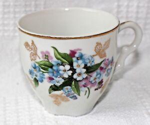 Nippon-Yoko-Boeki-Co-Multi-Color-Floral-Teacup-Small-Made-in-Japan