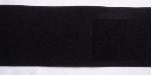 nur 1m Klettband Flauschband schwarz 100 mm zum nähen