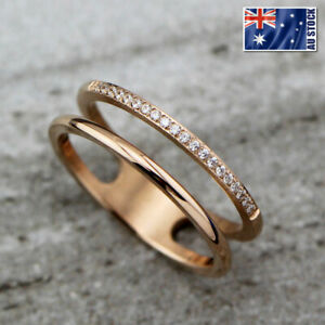 New-18K-Rose-Gold-Filled-Lady-Crystal-Thin-Slim-Knuckle-Midi-Finger-Wedding-Ring