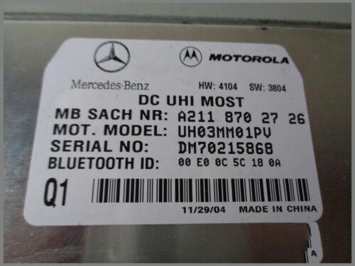 Mercedes Benz MB Téléphone taxe périphérique Dispositif De Commande Téléphone 2118702726 Motorola uhi