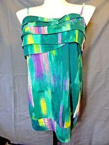 Lane Bryant Fun Flirty strapless cami Top size 16 green multi