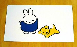 039-WITH-LOVE-FROM-MIFFY-039-POSTCARD-MIFFY-AND-SNUFFY-DICK-BRUNA-NEW