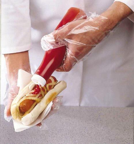 Lot de 100 hygiénique cuisine catering polyéthylène gants