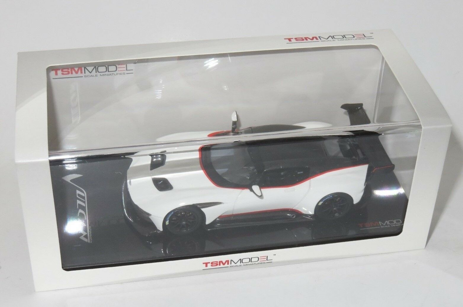 1 43  Aston Martin Vulcan  2015  White with Red Stripe