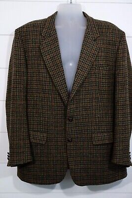 Hunter Olive Green Brown Irish Tweed Sport Coat By Foxford
