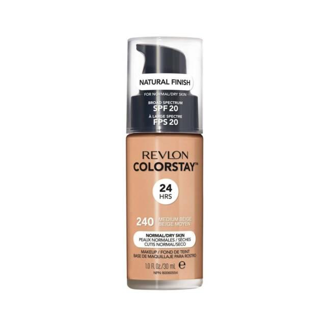 Revlon 24 Hrs Colorstay Makeup 240 Medium Beige Normal Dry Skin 1