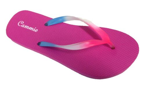 Womens Flip Flop Solid Neon Multi Color Straps Soft and Comfortable Fit Style 20