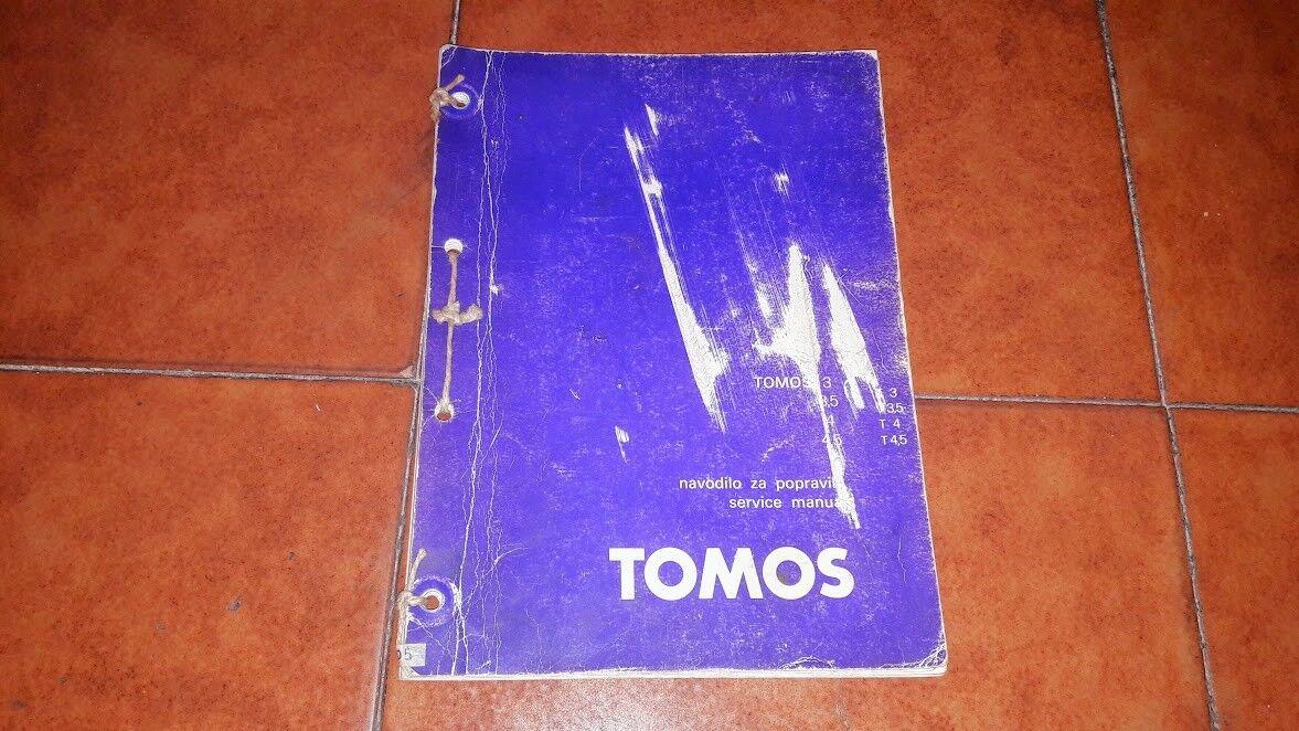 BEDIENUNGSANLEITUNG MOTOR YACHT TOMOS 3 3,5 4 4,5 NAVODILO ZA POPRAVILO 1981