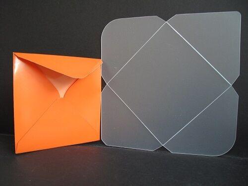 09 AM463 1 x durable plastique enveloppe modèle 155 x 155mm pour cardmaking