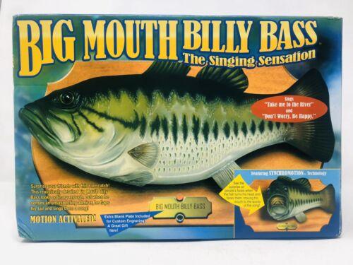 Vtg Big Mouth Billy Bass Motion-Activated Singing Fish Original Box 1998 Gemmy