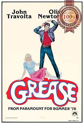 NEW GREASE V2 JOHN TRAVOLTA 1978 70s FILM MOVIE CINEMA ART PRINT PREMIUM POSTER